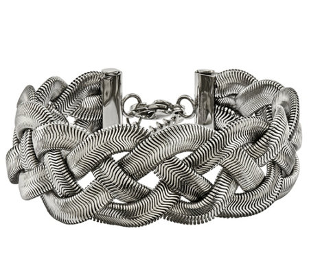 "Steel by Design Polished Braided 7-1/4"" Bracelet"