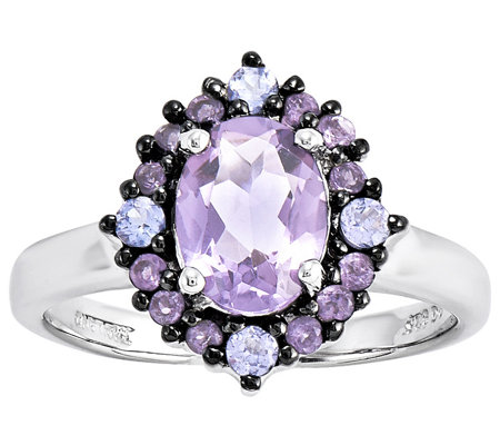 Sterling 1.45 ct tw Amethyst & Tanzanite Ring