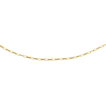 "14K Gold Rectangle-Link 20"" Chain"