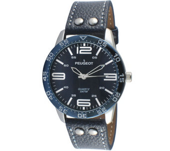 Peugeot Men's Navy Sport's Bezel Watch - J344555