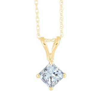 Princess-Cut Diamond Pendant, 14K Yellow, 1/2cttw by Affinity - J345055