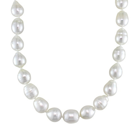 Graduated Cultured South Sea Pearl Necklace, 14K Gold Clasp