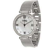 Diamonique Mesh Strap Watch - J347455
