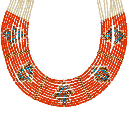 Multi- Strand Seed Bead Necklace