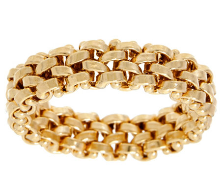 14K Gold Flexible Rolo Link Band Ring