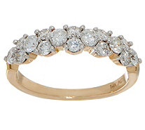 98 Facet Diamond Band Ring, 1.00 cttw, 14K by Affinity - J352055