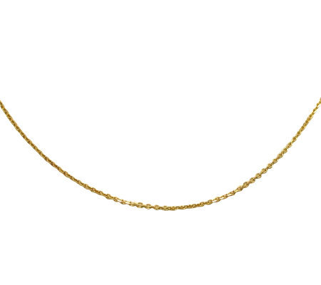 "EternaGold 24"" Polished Rolo Link Necklace 14KG old, 3.3g"
