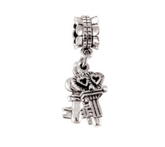 Prerogatives Sterling Keys Dangle Bead - J108756