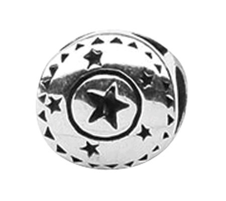 Prerogatives Sterling Circle with Stars Bead