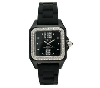 TKO Ladies Riviera Ice Polycarbonate and RubberStrap Watch - J109556