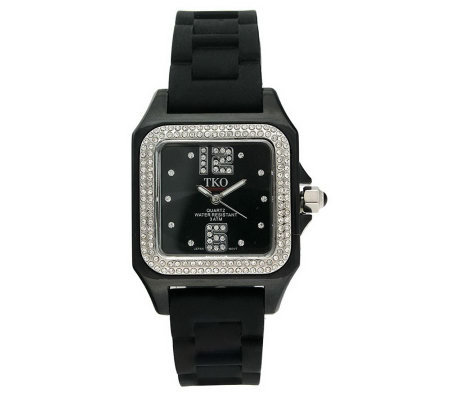 TKO Ladies Riviera Ice Polycarbonate Strap Watch