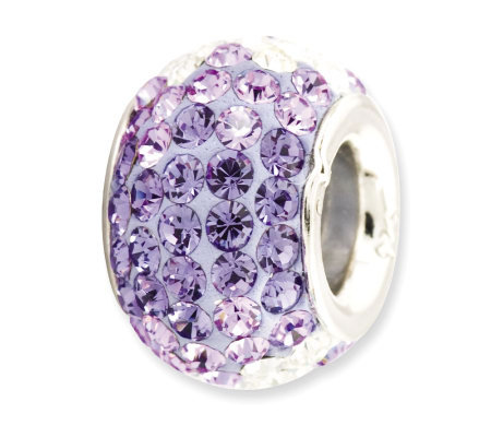 Prerogatives Sterling Bluish-Purple Crystal Bead
