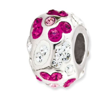 Prerogatives Sterling Clear with Fuchsia Crystal Flower Bead
