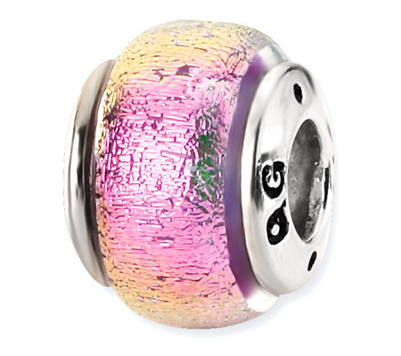 Prerogatives Sterling Purple Dichroic Glass Bead