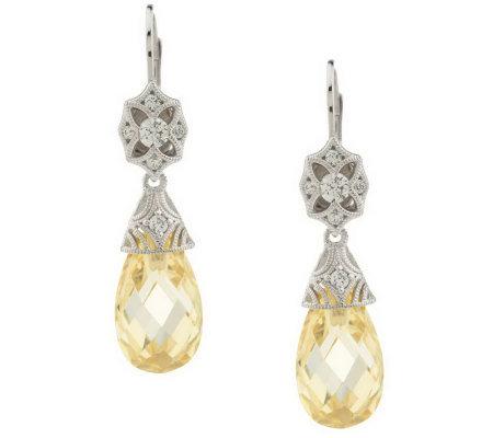 tacori iv diamonique epiphany briolette dangle earrings