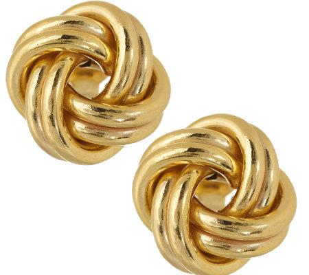 14k Gold Love Knot Stud Earrings, 6mm   Fruugo  Gold Love Knot Earrings