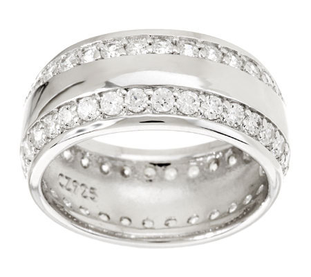 Epiphany Diamonique Wide Band Eternity Ring