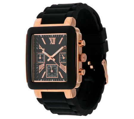 Gossip Multi-Function Rectangular Silicone Watch