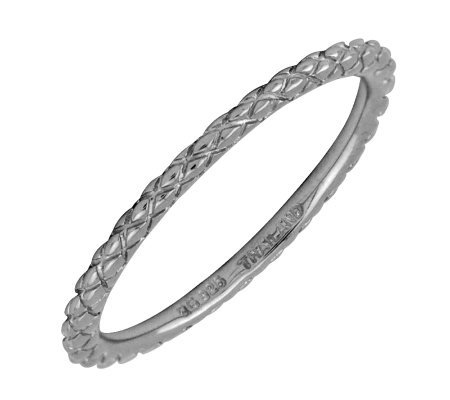 Simply Stacks Sterling Black Rhodium-Plated 1.5mm CrsCrossRing