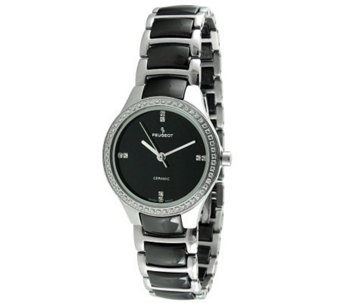 Peugeot Women's Swiss Ceramic Two-Tone Link Watch - J308656