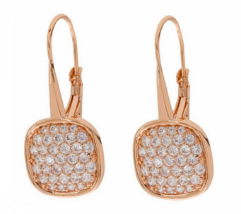 Bronze Pave' Crystal Dangle Earrings by BronzoItalia - J311956