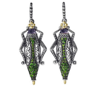 Barbara Bixby Sterling & 18K Pave Grasshopper Earrings - J313156