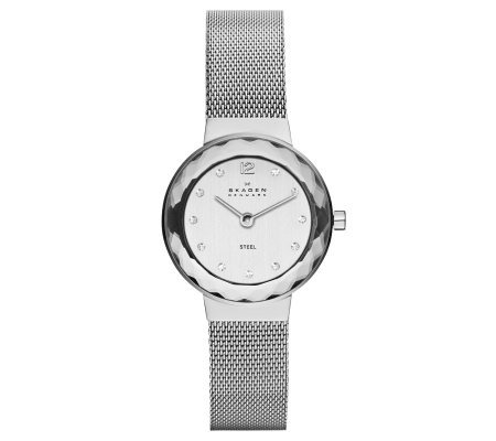 Skagen Women's Stainless Steel Faucet Bezel Bracelet Watch