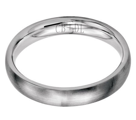 Stainless Steel 4mm Brushed Engravable Ring