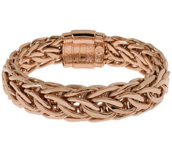 Bronze Large Fancy Curb Link Bracelet by BronzoItalia - J314756