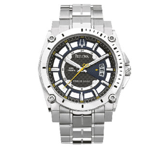 Bulova Men's Precisionist Stainless Steel Watch - J316456