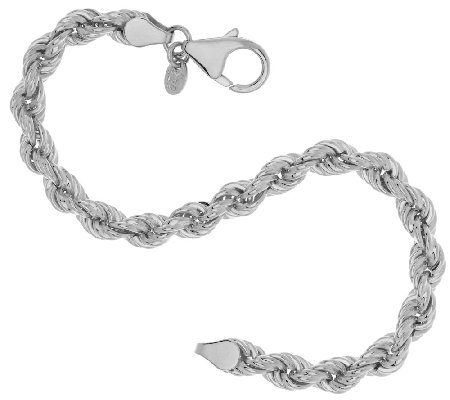 Bronze Polished Rope Chain Bracelet by Bronzo Italia