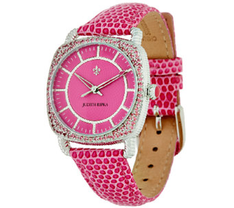 Judith Ripka Steel & Pave' Diamonique Stingray Aurora Watch - J323356