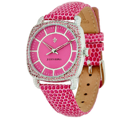 Judith Ripka Steel & Pave' Diamonique Stingray Aurora Watch