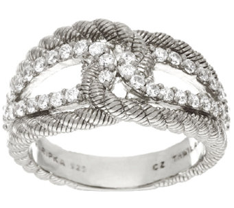 Judith Ripka Sterling Diamonique Wrap Ring - J325156