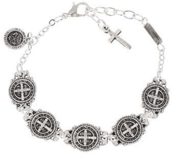 My Saint My Hero Benedictine Blessing Link Bracelet - J331156