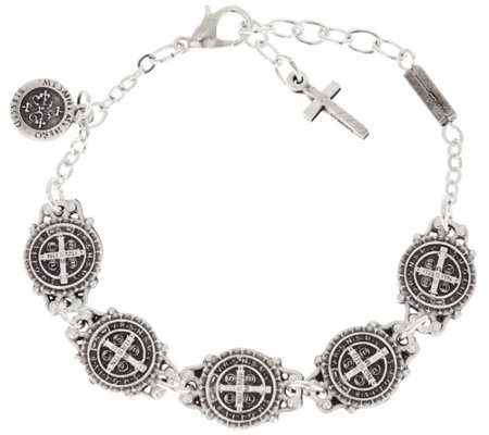 My Saint My Hero Benedictine Blessing Link Bracelet