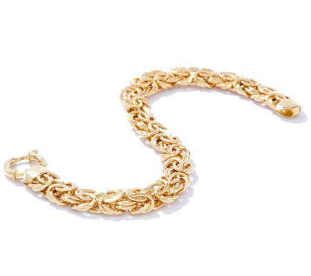 "14K Gold 8"" Solid Polished Byzantine Bracelet, 35.0g"