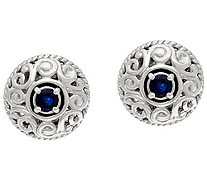 Carolyn Pollack Sterling Silver Birthstone Signature Earrings - J333856