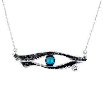 Hagit Sterling & Cultured Pearl Cleopatra's Eye Necklace - J333956