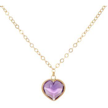 14K Gold Bezel Set Gemstone 18 Necklace