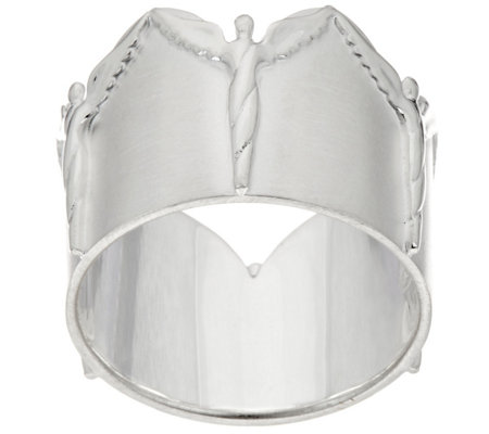 """As Is""Sterling Silver Ring of Angels by Steven Lavaggi"