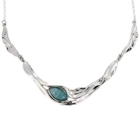 Hagit Sterling & Amazonite Necklace