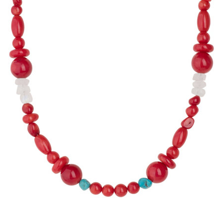 "Carolyn Pollack 32"" Sterling Beaded Possibilities Necklace"