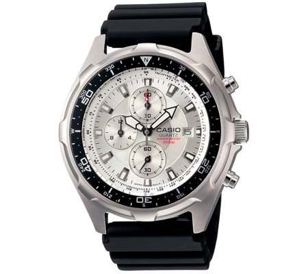 Casio Men's Ana-Digi Dive Resin Strap Watch