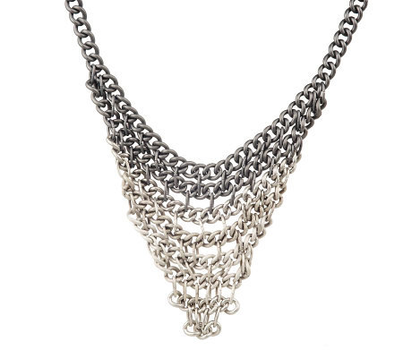 Ombre Chain Bib Necklace