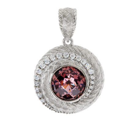 Judith Ripka Sterling 8.50ct Pink Diamonique Round Swirl Enhancer