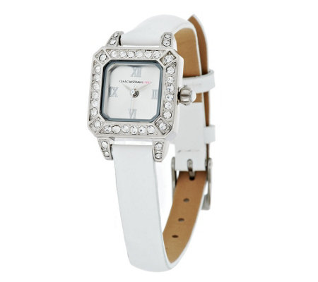 Isaac Mizrahi Live! Strap Mini Crystal Face Watch