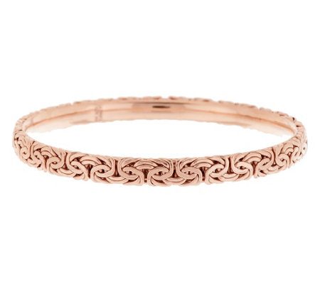 Sterling Round Byzantine Slip-On Bangle Bracelet Avg