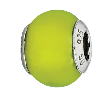 Prerogatives Sterling Lime Matte Italian MuranoBead