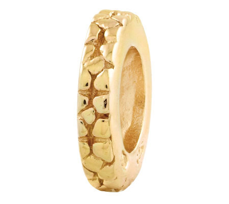 Prerogatives Gold-Plated Sterling Notched Floral Spacer Bead